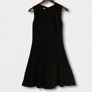 Akris Punto Black Jersey Fit & Flare Midi Dress 6